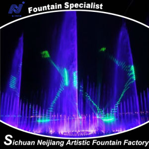 Music Water Fountain with Pretty Laser Performance Dance Fountain