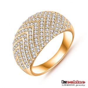 18k White Gold Plated Inlaid Zircon Male Wedding Ring Cri0025 B
