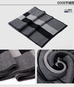 Men′s Classic Winter Warm Wool Acrylic Knitted Scarf (YKY4611) pictures & photos