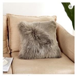 China Sofa Back Support Pillow Faux Fur