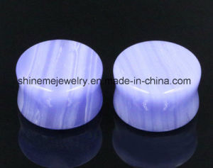 Fashion Body Piercing High Quality Double Flare Stone Plug pictures & photos