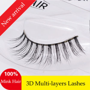 Natural Real Style Mink Hair Lashes High Qulaity False Eyelashes pictures & photos
