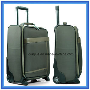 Promotional Customized Nylon Travel Trolley Bag/Suitcase, Hand Luggage Suitcase with Wheels