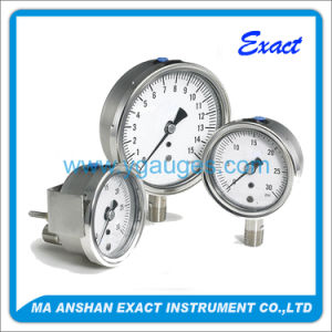 All Stainless Steel Bottom Connection Vacuum Pressure Gauge
