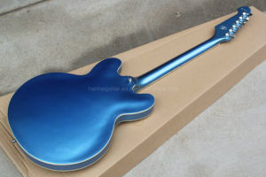 Hanhai Music/Semi-Hollow Blue Es-335 Electric Guitar with Chrome Hardware pictures & photos