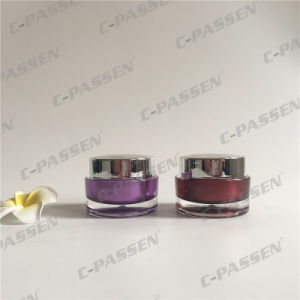 Acrylic Cream Jar with Silver Cap for Cosmetic Packaging (PPC-ACJ-102) pictures & photos