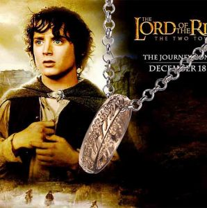 Movie Theme Metal Ring Pendant Necklace The Lord of The Ring Circle Collars Jewelry Gift