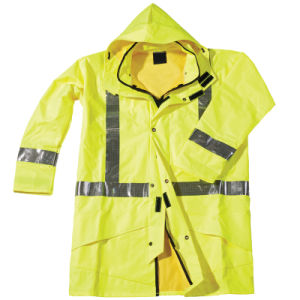 waterproof Yellow Winter High Visibility Reflective Safety Jacket pictures & photos