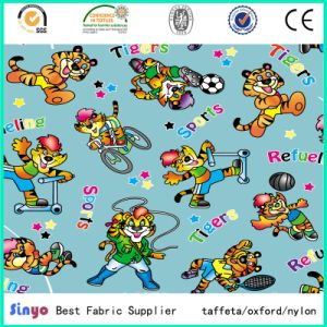 Panama PU Polyurethane Coated Oko-Tex 500d Cartoon Animals Print Fabric for Tent Baby Stroller pictures & photos