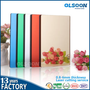 Olsoon 0.8-6mm Thickness Decorative Mirror Oval Mirror Bathroom Mirror Colored Mirror pictures & photos