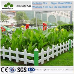 China Factory Decorative PVC Lawn Fence/PVC Picket Plastic Lawn Edging Fence (XM83) pictures & photos
