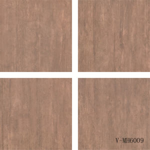 Interior Flooring Polished Different Faces Marble Look Brown Porcelain Floor Tile (600X600mm)