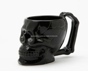 High Borosilicate Double Wall Skull Glass Cup with Handle (B-DBW18) pictures & photos