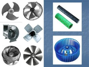 Metal / Plastic Fan Blade / Wheel / Impeller for Air Conditioning