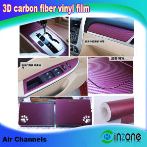 China 3D Carbon Fiber Vinyl Car Body Wrap Sticker Sheet with