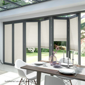 China External Patio Sliding Folding Doors with Raising Blinds ...