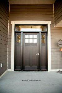 Top Arch Window External Solid Wood Front Main Entrance Door