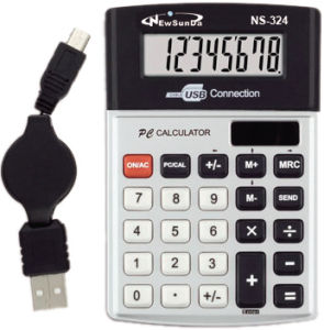 Desktop Calculator with USB Connection (NS-324)