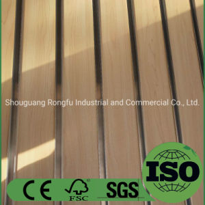 Melamine Slatwall MDF Board with Aluminum for Furniture