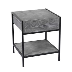 2 Layer Wood Side Tables for Living Room