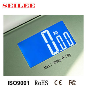 Toughened Glass 200kgs/440lb Electronic Digital Bathroom Scale Body Weight Scale pictures & photos