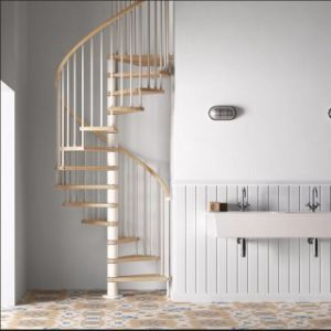 Low Cost Price Design Round Stair Indoor Used Used Metal Stainless Steel  Glass Spiral Staircase