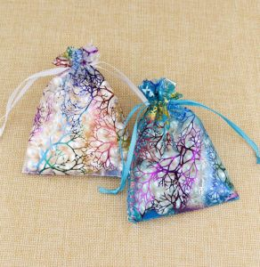 Organza Jewelry Bags Candy Pouch Party Wedding Favor Gift Bag 2 Colors Drawstring Pouches
