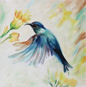 china new arrival modern colorful bird handmade animal oil painting