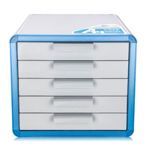 5 Drawers Aluminum Desktop Office File Storage Cabinet With Lock