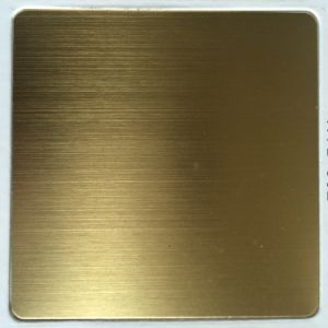 201/304/316 Hairline Finish Ti-Gold Stainless Steel Sheet