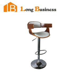 Pleasing Walnut Bend Wood Chair Height Adjustable 360Swivel Smart Bar Stool Squirreltailoven Fun Painted Chair Ideas Images Squirreltailovenorg