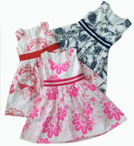 Summer Children Apparel Girls Princess Dress in Hot Sale (SQD-107)