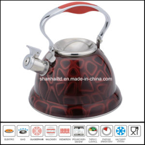 Full Color Stainless Steel Whistle Kettle Kitchenware pictures & photos