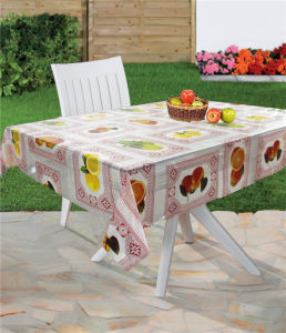 PVC Printed Clear Table Cloth in Roll pictures & photos