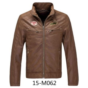Men′s PU Leather jacket (15-M062) pictures & photos