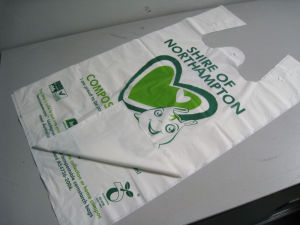 Biodegardab Plastic Shopping T-Shirt Bag