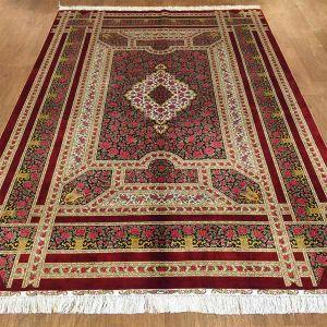 China Traditional Rose Design Hand Made Silk Persian Rugs 6