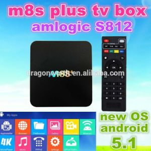 2016 Amlogic S812  Media Player HD M8s Plus Android 5.1 OS 2k4k Uhd Dual Band WiFi 1000m Ethernet pictures & photos