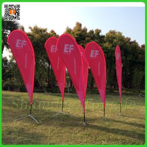 Polyester Advertising Beach Flag with Poles (TJ-58) pictures & photos