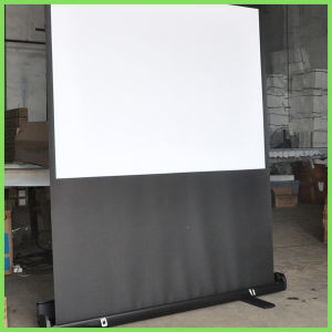 Portable Floor Projection Screen with Portable Bracket