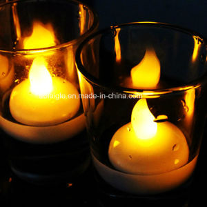 Holiday Supply Round Shaped Floating Flicker LED Candle