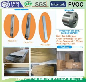 T-Bar for PVC Gypsum Ceiling pictures & photos