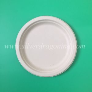 Eco-Friendly Biodegradable Disposable Sugarcane Bagasse Paper Round Plates & China Eco-Friendly Biodegradable Disposable Sugarcane Bagasse Paper ...