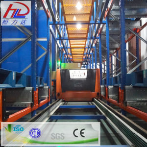 Warehouse Semi-Automatic Runner Storage Metal Rack