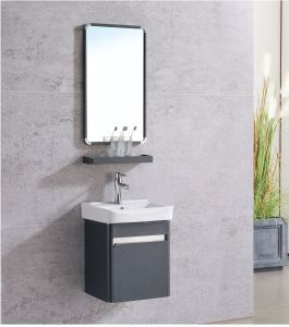China Stainless Steel Wallmount Modern Bathroom Vanity Cabinet