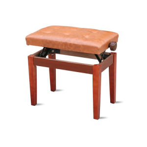 Strange Adjustable Brown Colour Piano Bench Gmtry Best Dining Table And Chair Ideas Images Gmtryco