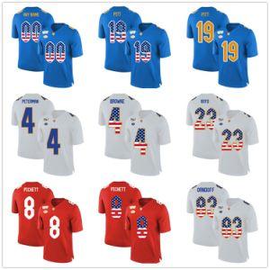 2019 Custom Pittsburgh Panthers Kenny Pickett Ncaa Jersey Football Shirt