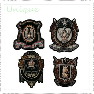 Promotional Customized Logo 3D Fabric Embroidery  Shoulder  Badge for Military Police Uniform
