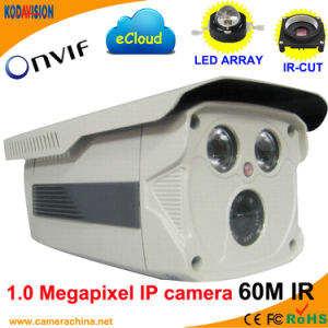 Weatherproof IP66 1.0 Megapixel Onvif Network IP Camera (60M IR) pictures & photos