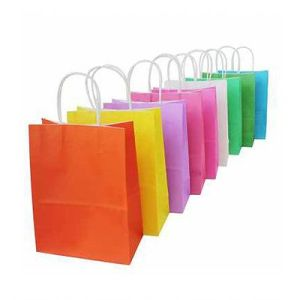 Premium Quality Paper Gift Bags/Party Favor Bags White Kraft Paper Bag Daliy Use Paper Bag pictures & photos